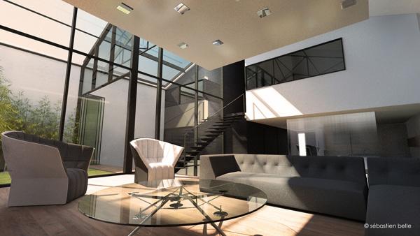 Spot dans maison contemporaine ds r novation for Architecture interieure contemporaine